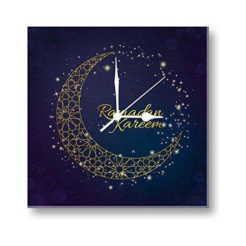 YaYa cafe Eid gifts, Ramadan Kareem Eid Mubarak Canvas Wall Clock -...