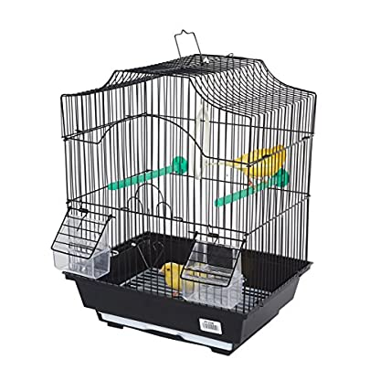 Pet Ting Freesia Small Bird Cage - For Finch Canary Budgie and other similar sized Birds (Black) 1