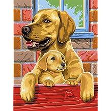 Le Petit Creador para pintar con motivos # maligna perros pequeños de 25 x 30 cm Colores surtidos