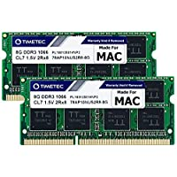 Timetec Hynix IC Compatible for Apple 16GB KIT(2x8GB) DDR3 PC3-8500 1066MHz Memory Upgrade for MacBook 13?? Mid 2010, MacBook Pro 13?? Mid 2010, iMac 27??Late 2009, Mac Mini Mid 2010(16GB KIT(2x8GB))
