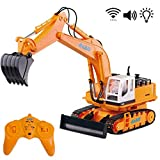 deAO Camión de Construcción Excavador Teledirigido con Luces LED y...