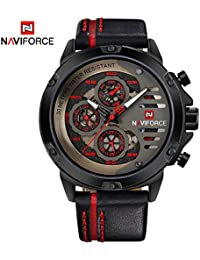Bernsuisse Naviforce Military Watch For Men Sport Waterproof Analog Quartz Leather Calendar Wrist Watches Men's...