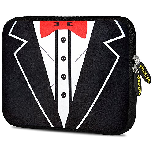amzer-tux-red-bow-design-neoprene-soft-sleeve-for-up-to-775-inch-tablet