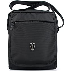Victoriatourist V3002 Borsa Messenger Si Può contenere Il Ipadmini e la Tavoletta PC da 9,7 Pollici, Nero (Nero)