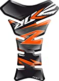 Motorrad Gas Displayschutzfolie Aufkleber/3D Gummi Fuel Tank Pad Tankpad Displayschutzfolie Aufkleber für KTM Duke 125 250 690 790 1029 (Schwarz/orange)