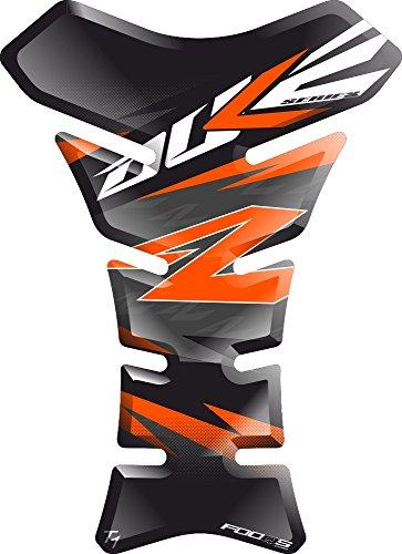 Motorrad Gas Displayschutzfolie Aufkleber/3D Gummi Fuel Tank Pad Tankpad Displayschutzfolie Aufkleber für KTM Duke 125 250 390 690 790 1029 (Schwarz/orange)