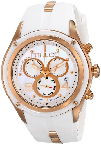 Mulco Mixte MW1Watertight–29902–013–Montre de Poignet, Bracelet en Caoutchouc Blanc