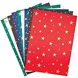 Bastelpappe mit Sternen (35cm x 25cm, 300g/m) für Kinder Zum Basteln zu Weihnachten und Nikolaus - (10 Bögen)