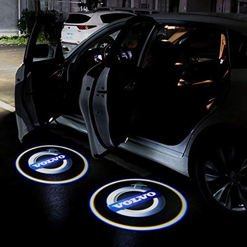 Aokairuisi Kit Logo Proiettore sottoporta Volvo Luci LED CREE Cortesia 5W 12V