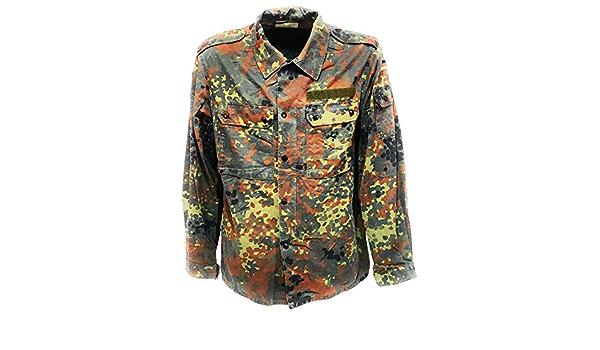 Fratelliditalia Hemd italienischen Armee milit/ärische Soldat Ordnung Baumwolle Langarm