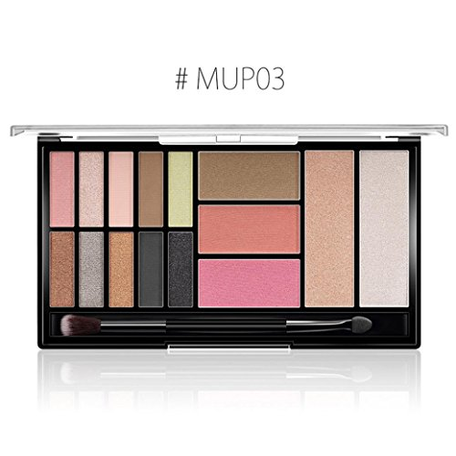 Beauté Top Matte Glitter Eye Shadow Powder Palette Matte Eyeshadow Maquillage cosmétique (C)