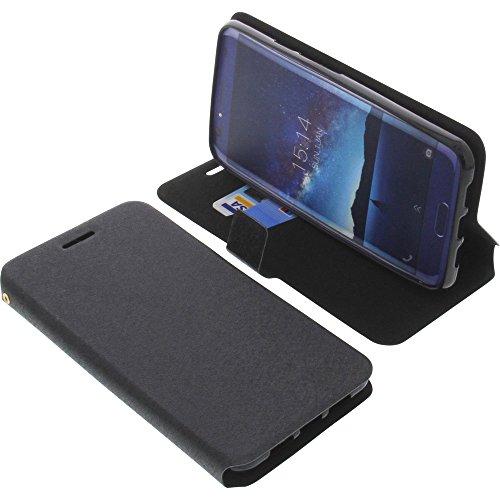 foto-kontor Tasche für Doogee BL5000 Book Style schwarz Schutz Hülle Buch