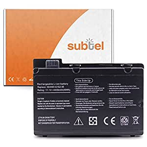 subtel® Batterie premium (4400mAh) pour Fujitsu Amilo Pi 2450 / Pi 2530 / Pi 2540 / Pi 2550 / Amilo Xi 2428 Batterie de recharge, ordinateur Accu remplacement