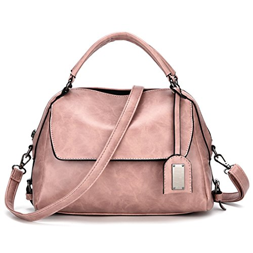 YYW Leather Shoulder Bag, Borsa a zainetto donna Pink