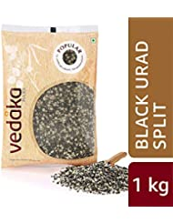 Amazon Brand - Vedaka Popular Black Urad Split / Chilka, 1 kg