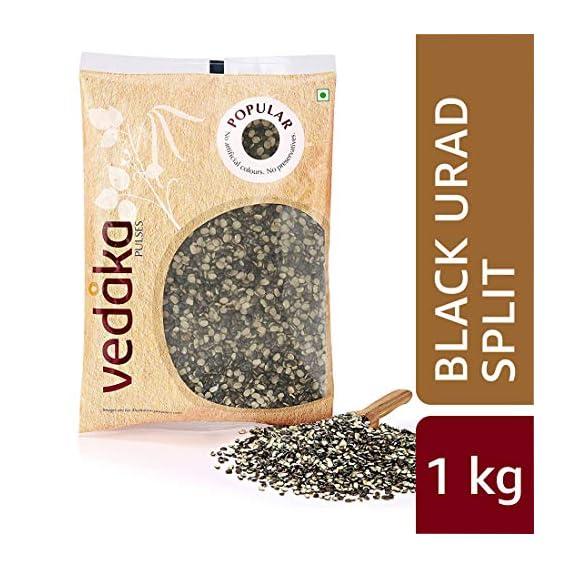 Amazon Brand - Vedaka Popular Black Urad Split/Chilka, 1 kg