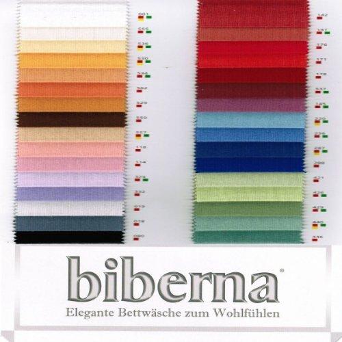 biberna 2744/562/046 Biber Spannbetttuch (nach Öko-Tex Standard 100, ca. 60 x 120 cm bis 70 x 140 cm) nektarine