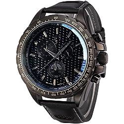Shark Herren Armbanduhr Quarzuhr Sportuhr Armband aus Leder SH192