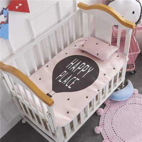 FIFY Sommer Baby Bett Matte 2 Teile/Satz kühlen floding Matte Blatt + Kissen 0-5 Jahre schlafmatte kit Cartoon Kind bettdecke 60 * 120 cm Jungen Gir, G (Bett-blatt-baby-junge)