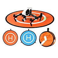 "Drone Landing Pad, BELLESTYLE Waterproof 75cm/30"" Foldable Landing Pads Mat for RC Drones Helicopter, PVB Drones, DJI Mavic Pro Phantom 2/3/4/ Pro, Antel Robotic, 3DR Solo & More - Blue & Orange"
