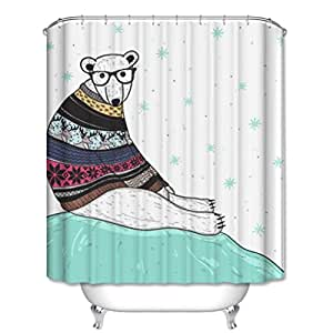 Multi size high quality polyester fabric bathroom shower for Kids shower curtain sets