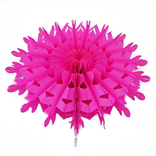 �x/lot Schneeflocke Ausschnitt Pinwheels Papier Fan zum Aufhängen Blume Seidenpapier Fan Crafts Party Hochzeit Home Baby Dusche Dekorationen ()