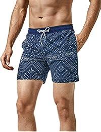 MaaMgic Homme Short de Bains Maillot de Bain Filet Style Tropical Voyage  Pants Court de Sport Séchage Vite Bien… c5c66656626