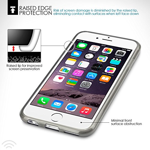 Terrapin TPU Schutzhülle Tasche Case Cover für iPhone 6S / iPhone 6 Hülle Transparent Lila Transparent Schwarz