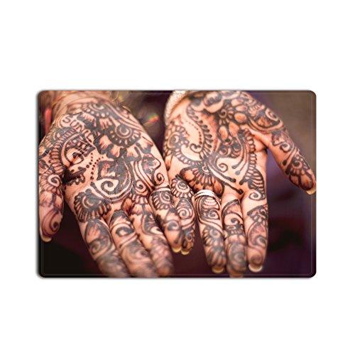 Kristall Emotion Personalisieren Decor Teppiche Fußmatten Zucker Tattoo Art Design Fußmatte Wohnzimmer Küche Teppich Boden Treppen Bereich rutschfest Veranda Teppiche Diele Matte, Textil, multi, 18x30 - Tattoo-fußmatte