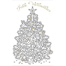 Frohe Weihnachten Zum Ausmalen.Suchergebnis Auf Amazon De Fur Weihnachtskarten Zum