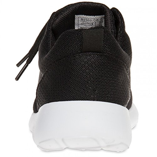 CASPAR SSN003 Damen Sneaker Schwarz