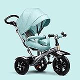 DACHUI bambini, triciclo 1-5 anni di carrozzina, bambino bike bicicletta gonfiabili, baby carrello (COLORE : verde)