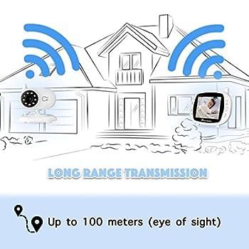 [2018 Upgraded]newest Video Baby Monitor - Etekstorm Monitor With 3.5''lcd Display,digital Camera,two Way Talk,night Vision,lullabies,temperature Monitoring,capacity Battery & Long Range. 3