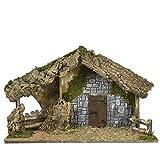Moranduzzo Capanna con Porta e Muro per Personaggi da 13/15 cm, 64 x 30 x 40 cm