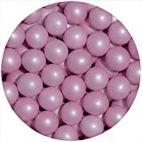 EinsSein® 350g Crispy Schokoperlen Schokokugeln rosa Perlglanz Gastgeschenke Hochzeit Hochzeitsmandeln Zuckermandeln Schokomandeln Candy Bar Bonbons Schokotafeln Dragees Taufmandeln Bonboniere