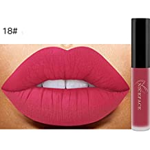 pintalabios lustre,Oyedens Nuevo labio lingerie matte líquido lápiz labial impermeable brillo labial maquillaje 14 tonos (F)