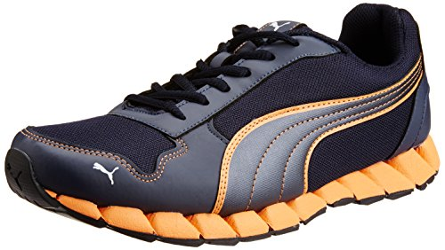 cc2f857a739110 Puma 18845402 Men S Kevler 2 Dp New Navy Fluo Oran White And Black Running  Shoes 8 Uk- Price in India