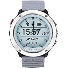 OPTA Vivomove Hybrid 2 in 1 Digital and Analogue display, Heart Rate Monitor, Fitness Tracker Bluetooth Smartwatch for Android and iOS (Silver, Grey)