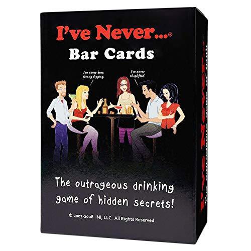 Unbekannt INI I've Never Bar Cards, The Outrageous Drinking Game of Hidden Secrets, Dieses Spiel Wird Sie schockieren, Sie überraschen und zum Lachen bringen, enthält 104 Fragen und 10 Leere Karten