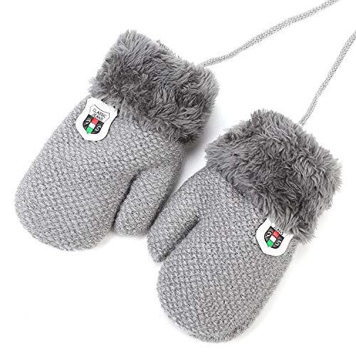 Süße Handschuhe unisex Fäustlinge Baby Mädchen Jungen Kleinkinder 1-3 Jahre Kinderhandschuhe warm weich Winter Fingerhandschuhe mit Plüsch Fleecefutter Verdicken Babyhandschuhe Outdoor Wandern