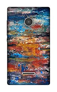 The Racoon Grip Brush Strokes hard plastic printed back case / cover for Microsoft Lumia 532