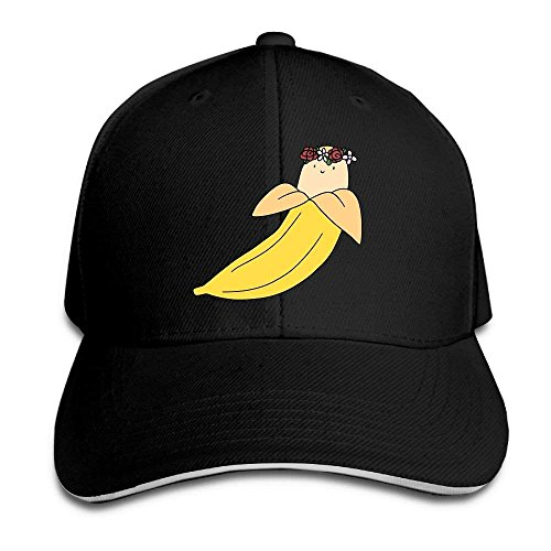 Preisvergleich Produktbild tianjianzulinyouxiangongsi Flower Crown Banana Cap Unisex Low Profile Cotton Hat Baseball Caps White