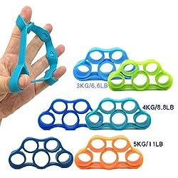 niXum Fingertrainer 3er-Set, Handtrainer, Finger Exerciser, Finger Strecher