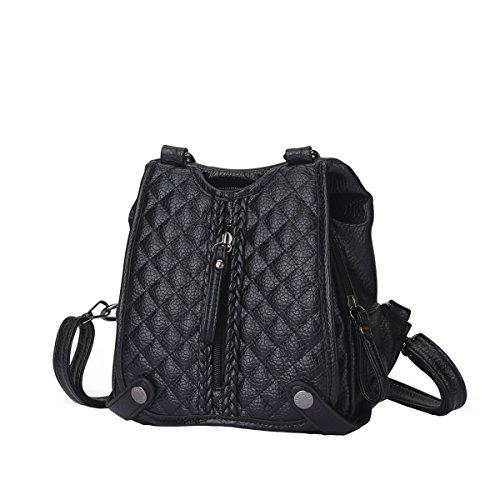 VALIN S836 Nouveau style PU Cuir Sacs portés épaule Sacs portés dos,210×90×220(mm) Couleur-2