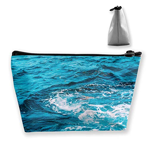 Blue Water Photo Women Cosmetic Bags Multifunktions-Kulturbeutel Organizer Travel Wash Lagerung (Trapez)