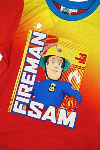 Image of Boys Official Fireman Sam Fire Fighter Shorty Cotton Pyjamas sizes from 1.5 to 5 Years