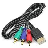ROSENICE HDMI Kabel zu männlichen Audio-Video-Komponente 3-RCA Kabel für HDTV 1080p konvertieren 3ft 1m