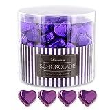 150 lila Schokoladen Herzen Florenz