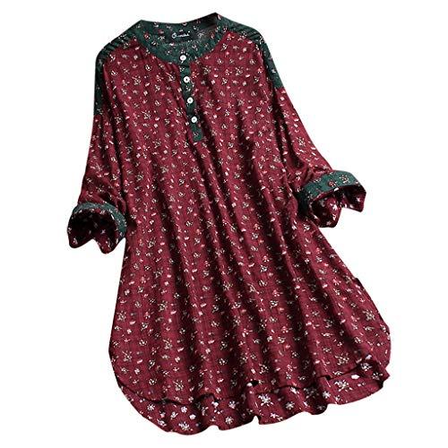 Luckycat Camisas Larga para Mujer