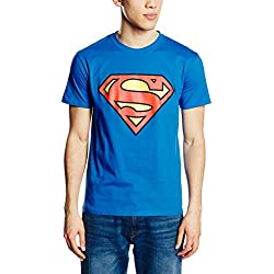 DC COMICS Camiseta Manga Corta Superman Logo Azul Royal